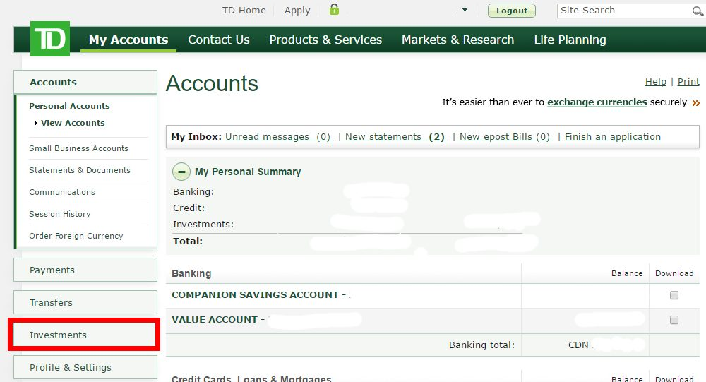 Step by step: How to buy TD e-Series Index Funds through TD Mutual Fund accounts