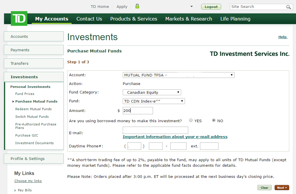 Step 8 - Filling in fund details
