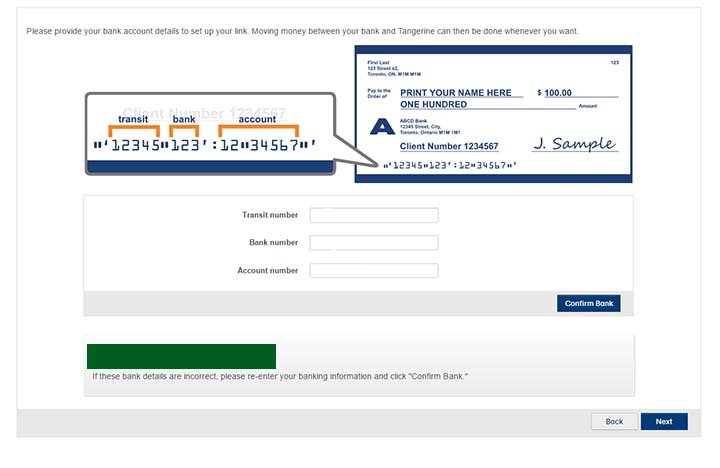 Switch to Tangerine - Open a Tangerine savings account - confirm current bank