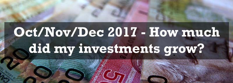 October/November/December 2017 – Investment portfolio growth