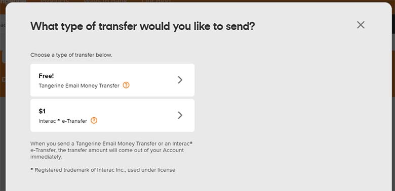 Buy Bitcoin in Canada - 10 - Tangerine e-Transfer