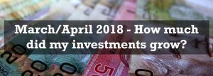March/April 2018 – Investment portfolio growth