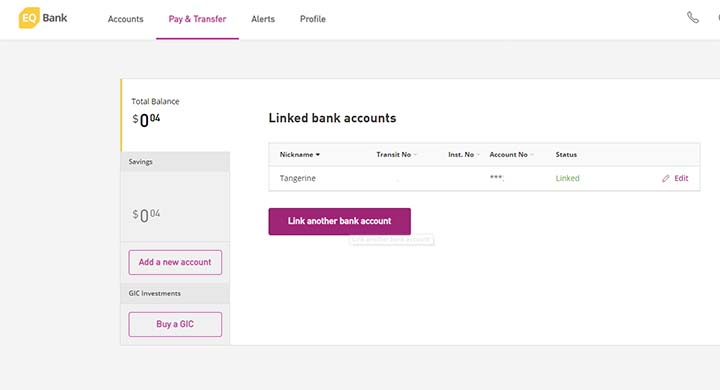 EQ Bank - Link accounts 2