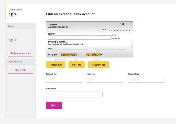 EQ Bank - Link accounts 4