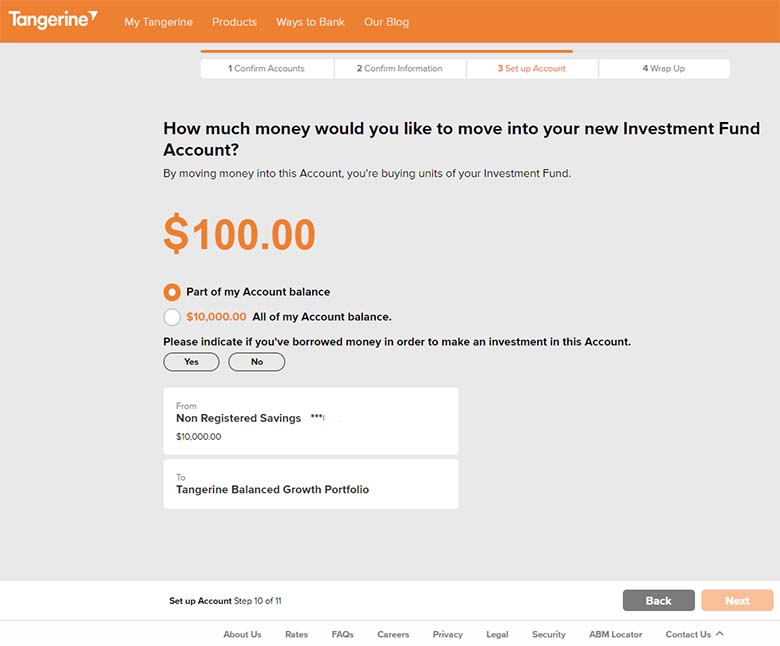 Tangerine Investments - 15 - Funding