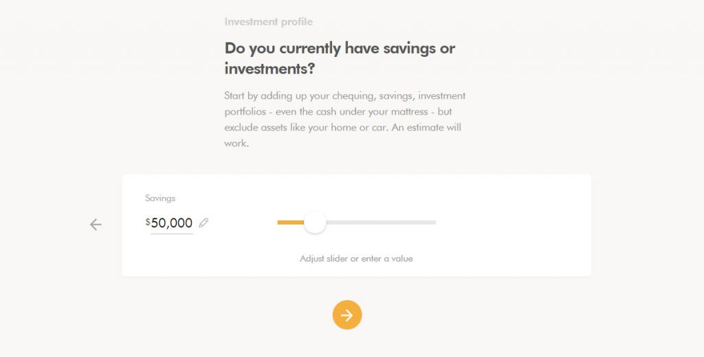 WealthSimple Signup - Step 2 - 11 - Current Investments