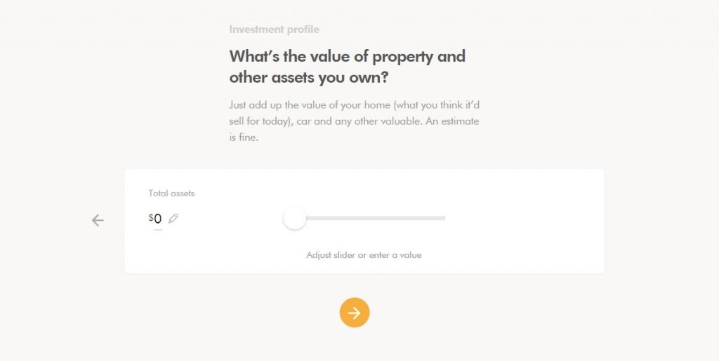 WealthSimple Signup - Step 2 - 12 - Assets