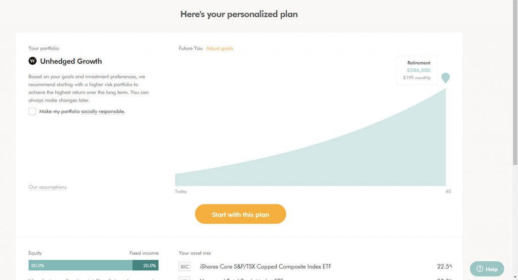 WealthSimple Signup - Step 2 - 15 - Investment Type