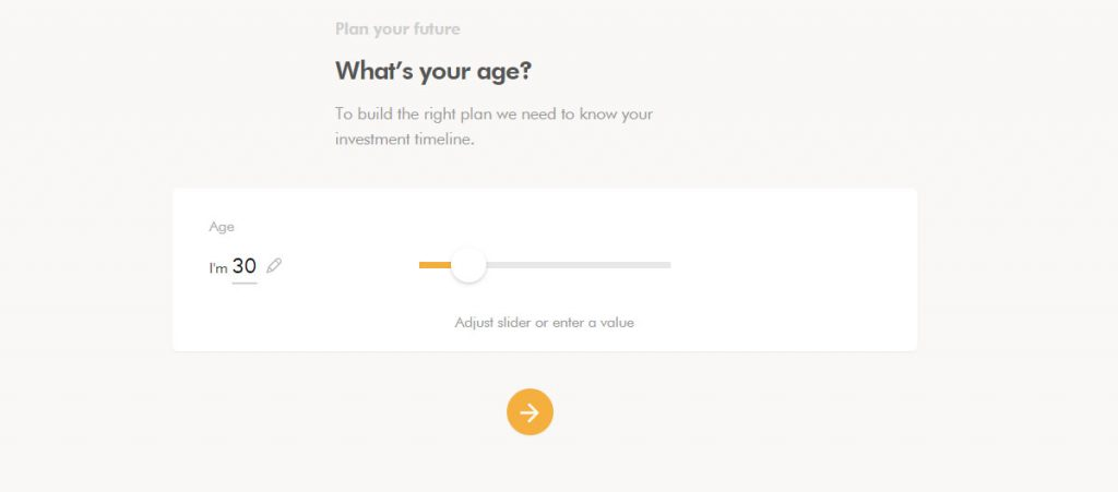 WealthSimple Signup - Step 2 - 2 - Age