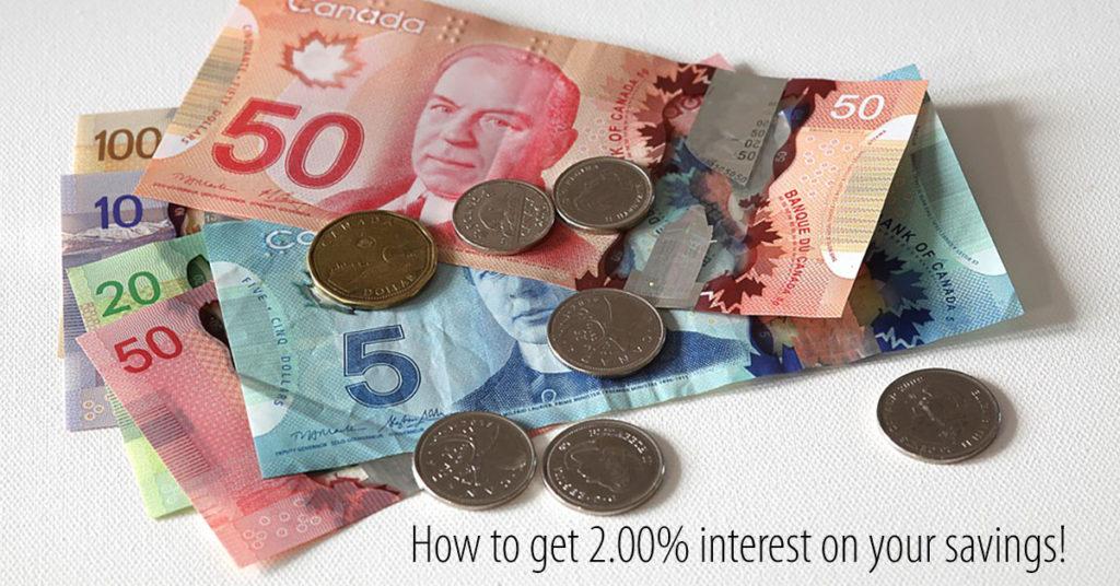 EQ Bank 2% Interest Savings Account