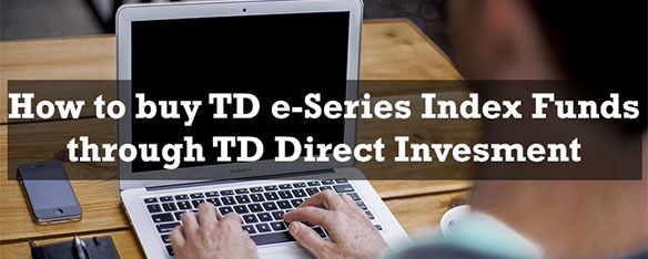 Buying index funds through TD Direct Investing - mid size