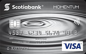 Scotia Momentum No Fee Visa Card Art